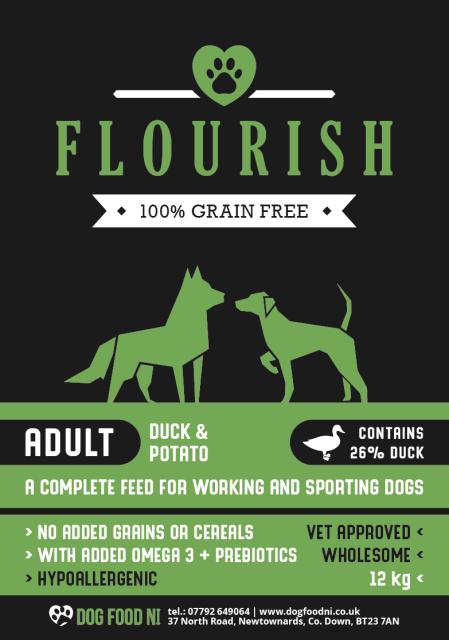 Flourish Grain Free Duck And Potato Dog Food Ni Working